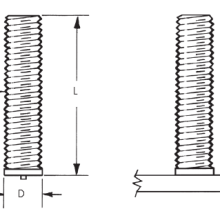 CD Metric Non Flanged Weld Studs_Image1
