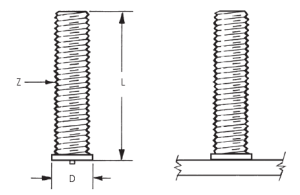 CD Threaded Small Flanged Weld Studs_Image1