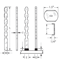 Rectangular Fiber Weld Studs_Image1