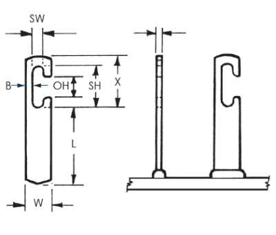 Rectangular T Slot Weld Studs_Image1