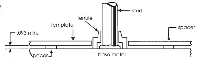 arc stud welding complete stud weld