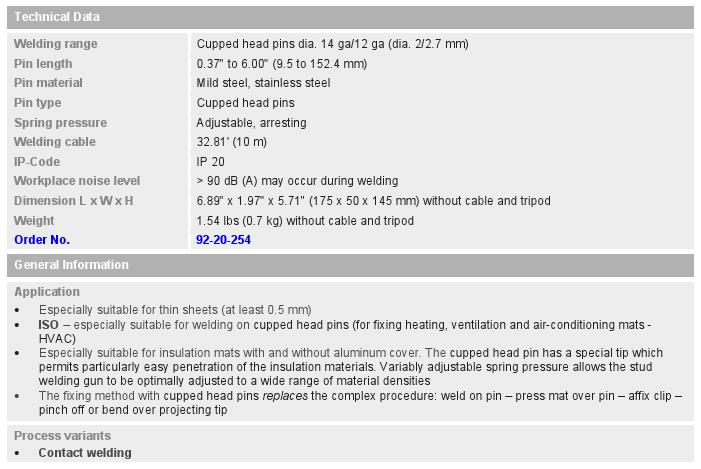 Ci 03 Stud Welding Gun (for insulation)_chart
